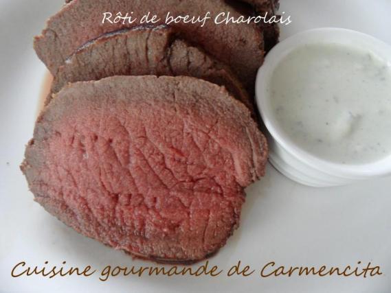 recette r ti de rosbeef charolais la sauce au roquefort 750g. Black Bedroom Furniture Sets. Home Design Ideas