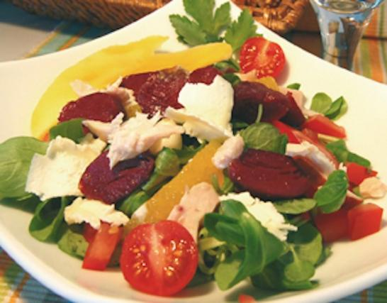 recette salade de g siers de canard maigre confits vinaigrette ti de aux agrumes et pignons. Black Bedroom Furniture Sets. Home Design Ideas