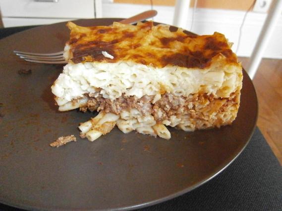 Recette pastitsio gratin de p tes grec la viande - Comment ranger ses recettes de cuisine ...