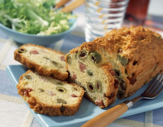 Cake Olives Lardons Sans Lait