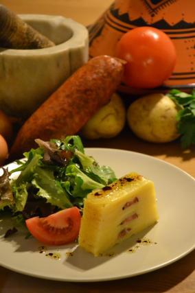 Recette mille feuilles de pommes de terre confites et - Cuisiner saucisse de morteau ...