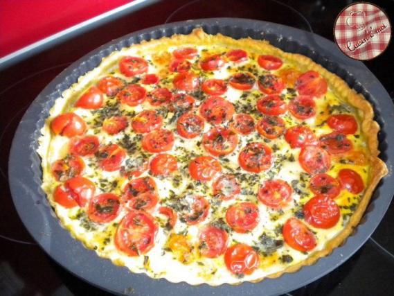 Cake Saumon Feta Tomate