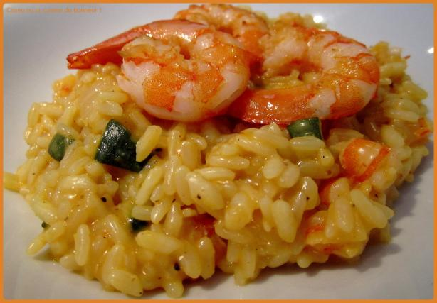 recette risotto crevettes et courgettes 750g. Black Bedroom Furniture Sets. Home Design Ideas