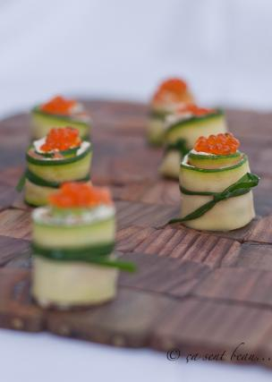 recette makis de courgettes philadelphia saumon fum not e 4 5. Black Bedroom Furniture Sets. Home Design Ideas
