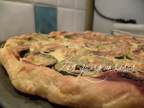 Recette tarte aux courgettes et au ch vre sans oeufs 750g - Tarte aux poireaux sans oeufs ...