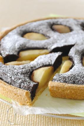 Recette tarte poires chocolat 750g - Tarte poire chocolat sans oeuf ...