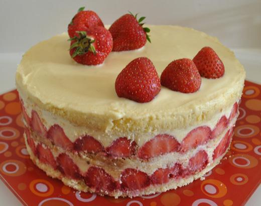Recette gateau genoise fraise facile