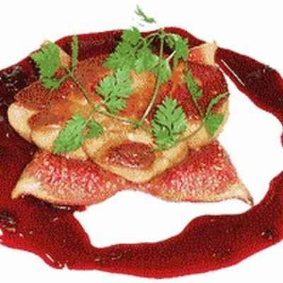 Recette foie gras de canard po l aux figues miroir de for Miroir au cassis