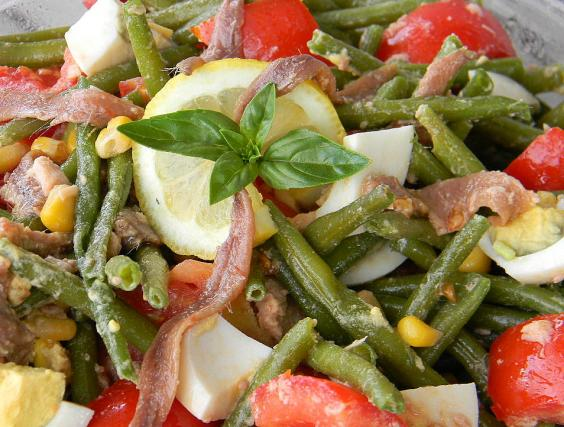Barley, Corn And Haricot Vert Salad Recipe — Dishmaps