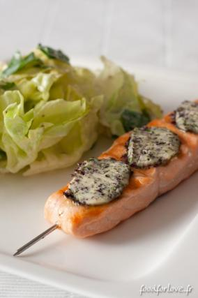 recette pav de saumon au beurre d 39 algues 750g. Black Bedroom Furniture Sets. Home Design Ideas