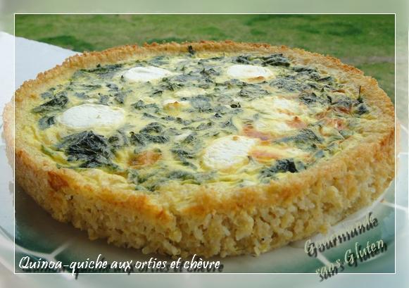 recette quinoa quiche aux orties et ch vre not e 4 5. Black Bedroom Furniture Sets. Home Design Ideas