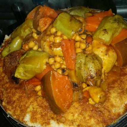 Recette couscous la recette traditionnelle not e 4 2 5 - Cuisine tunisienne traditionnelle four ...