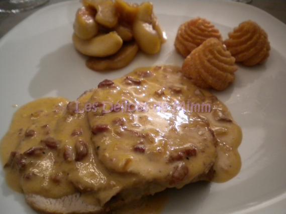 Recette r ti de porc au cidre et aux lardons pommes - Cuisiner des joues de porc ...