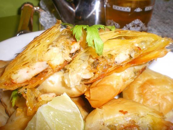 Recette bricks aux crevettes not e 4 1 5 - Cuisine tunisienne traditionnelle four ...