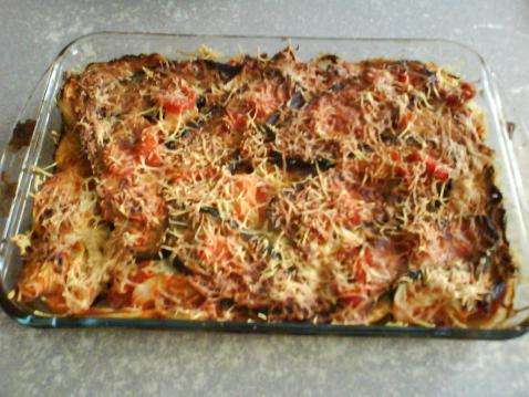 Recette - Gratin d'aubergine et tomates | 750g