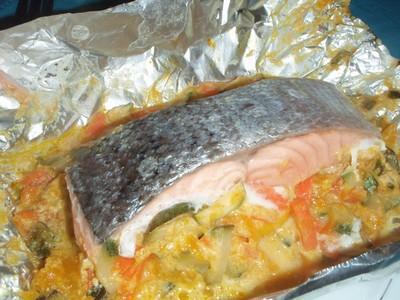 Recette saumon en papillote des les 750g - Cuisiner du saumon au four ...