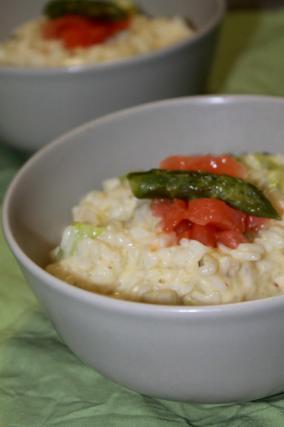 recette risotto aux asperges vertes saumon fum et parmesan not e 4 5. Black Bedroom Furniture Sets. Home Design Ideas