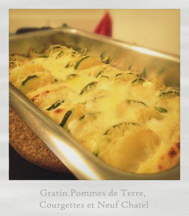Recette Gratin De Pommes De Terre Courgette Et Neuf Chatel 750g