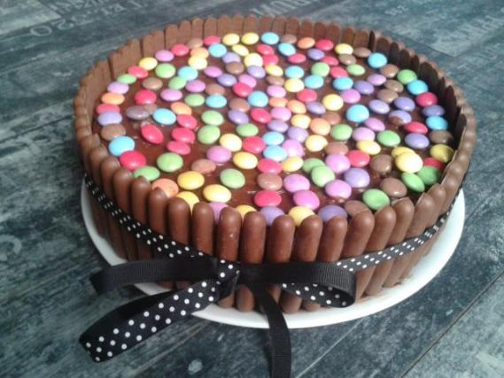 Gâteau Smarties/Fingers