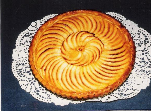 recette tarte aux pommes enrichie de cr me ou de compote 750g. Black Bedroom Furniture Sets. Home Design Ideas