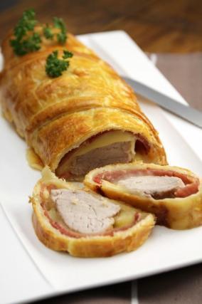 Recette filet mignon de porc en cro te bacon et - Cuisiner un filet mignon de porc au four ...
