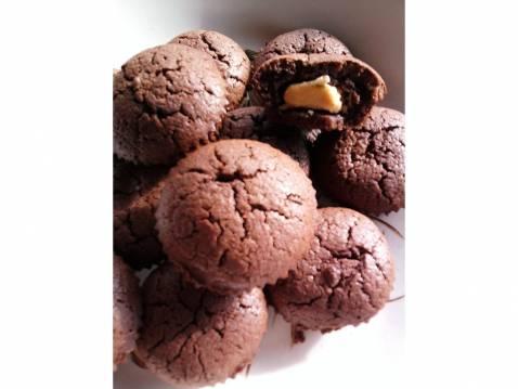 Fondant chocolat coeur chocolat blanc tupperware
