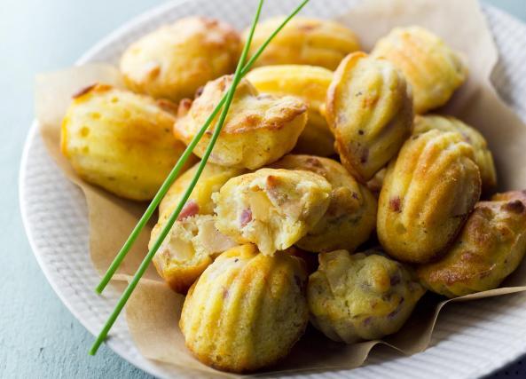 Cake Lardons Chorizo Olives