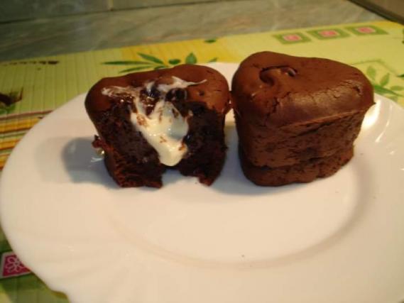 recette mini fondant au coeur chocolat blanc not e 4 1 5. Black Bedroom Furniture Sets. Home Design Ideas