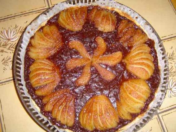 Recette tarte au chocolat et poires sans gluten not e 4 5 - Tarte au chocolat sans oeuf ...