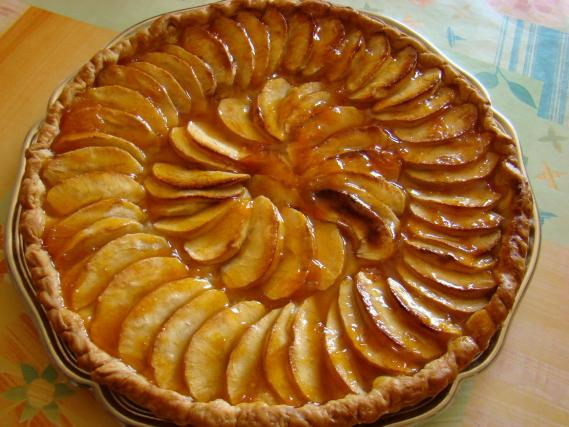recette tarte aux pommes normande 750g. Black Bedroom Furniture Sets. Home Design Ideas