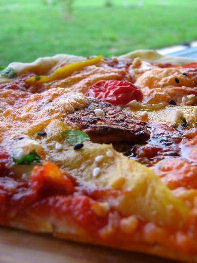 recette pizza exotique au poulet grill 750g. Black Bedroom Furniture Sets. Home Design Ideas
