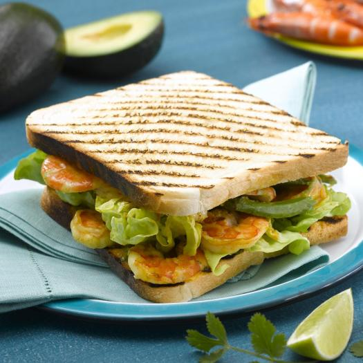 recette sandwich crevettes grill es 750g. Black Bedroom Furniture Sets. Home Design Ideas