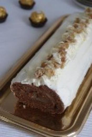 Ganache au chocolat blanc pour buche de noel