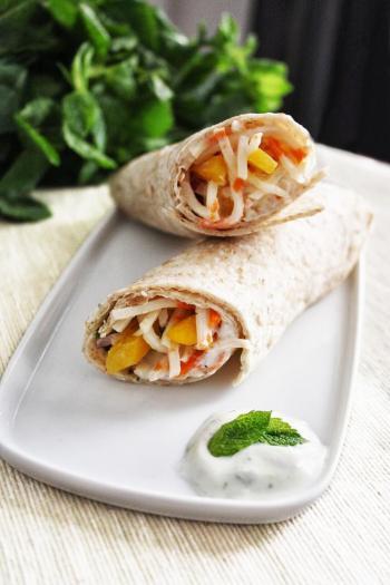 Recette wrap saumon mangue