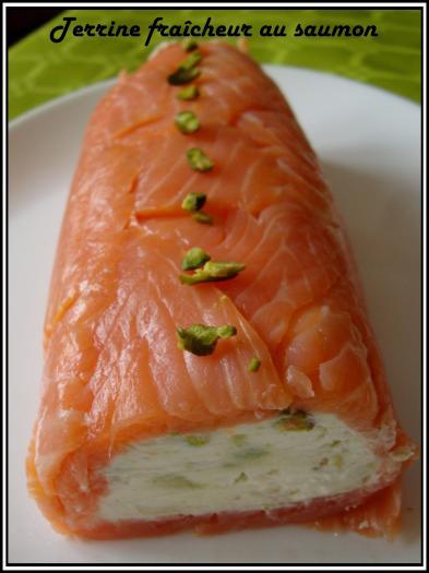 Recette terrine fraicheur au saumon 750g for Entre pour un repas