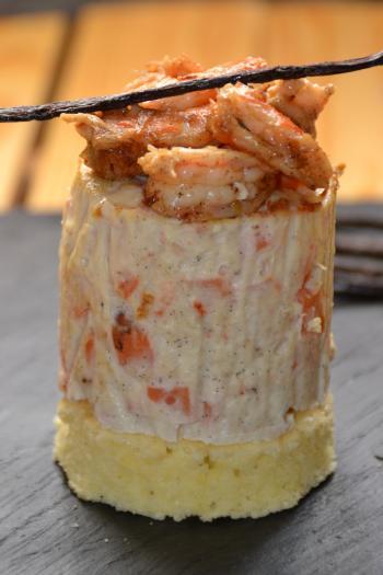 Recette terrine individuelle de poisson et ses crevettes for Entree sans poisson