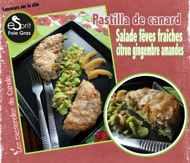 Recette Pastilla De Canard Aux Feves Fraiches Et Salade De Feves