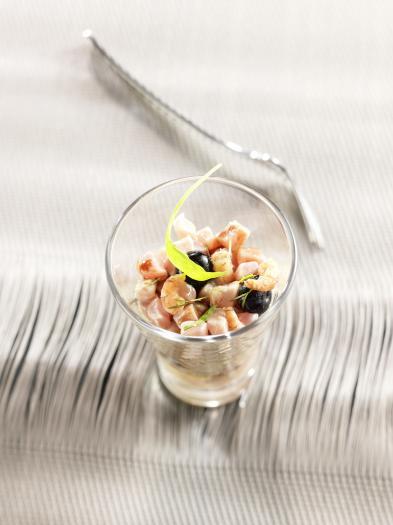 recette cru de thon et crevettes grises en verrine 750g. Black Bedroom Furniture Sets. Home Design Ideas