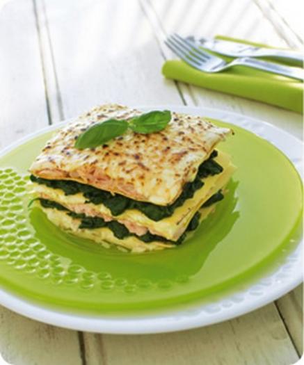Recette Lasagnes Au Saumon Et Aux Epinards Traditionnelles 750g