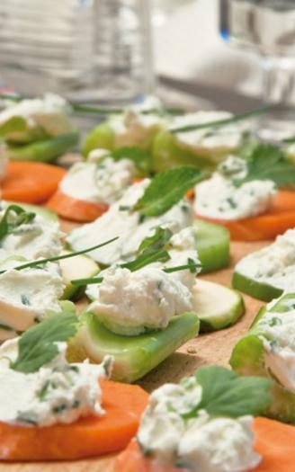 Recette canap s de l gumes au fromage frais et aux for Canape au fromage