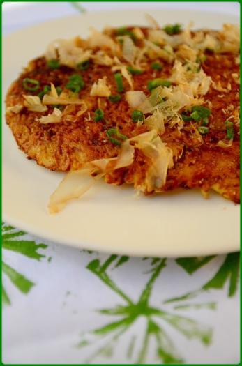 Recette - Crèpe okonomiyaki (plat japonais garni de chou ...