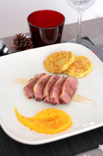 Recette magret de canard basse tempe rature paillassons - Cuisiner un magret de canard au four ...
