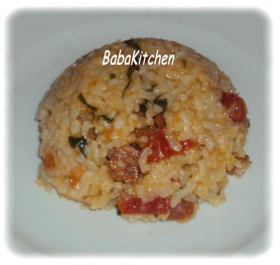 recette risotto aux crevettes et chorizo 750g. Black Bedroom Furniture Sets. Home Design Ideas