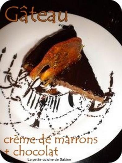 Recette g teau cr me de marrons et chocolat 750g - Gateau chocolat creme de marron ...