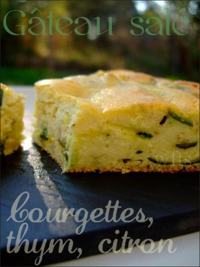 Gateau citron courgette