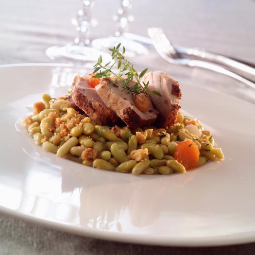 Recette filets mignons de porc crumble de flageolets - Cuisiner des flageolets ...