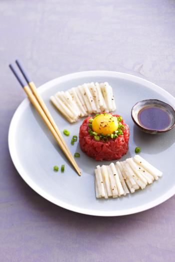 recette yukhwe steak tartare 750g. Black Bedroom Furniture Sets. Home Design Ideas