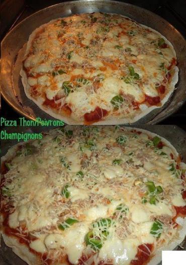 recette pizza thon poivrons champignons 750g. Black Bedroom Furniture Sets. Home Design Ideas