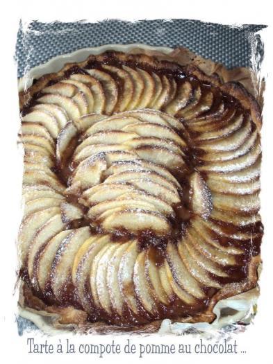 recette tarte la compote de pommes au chocolat 750g. Black Bedroom Furniture Sets. Home Design Ideas